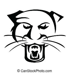 vektor, illustrator, panther