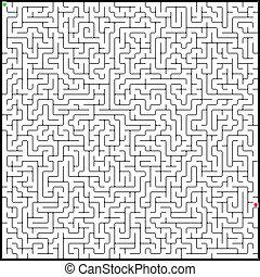 vektor, ilustrace, o, bezvadný, maze., eps, 8