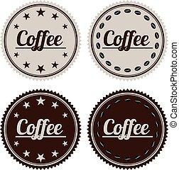 vektor, ilustrace, o, jeden, prapor, zrnková káva