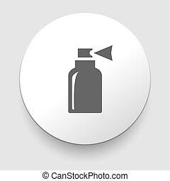 vektor, ilustrace, o, osamocený, láhev, ikona
