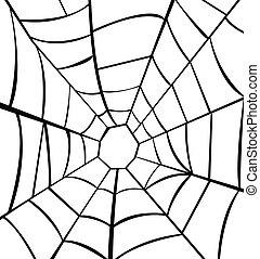 vektor, ilustrace, o, pavučina