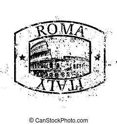 vektor, ilustrace, o, svobodný, osamocený, roma, ikona