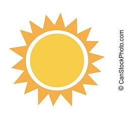 vektor, ilustrace, o, východ slunce, slunit se
