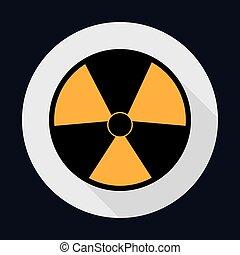 vektor, industrie, biohazard, grafik, sicherheit, sicherheit, icon.