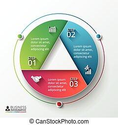 vektor, infographic, design, template.