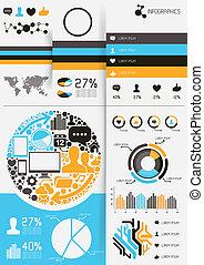 vektor, infographics
