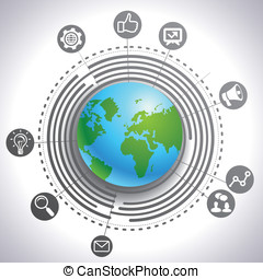 vektor, internet marketing, begriff