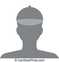 vektor, internet, profile., avatar, társadalmi, kölyök