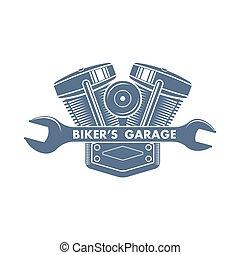 vektor, jel, bicikli, motor, szolgáltatás