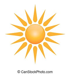 vektor, jelkép, közül, nap