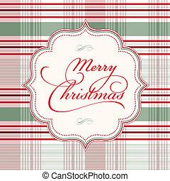 vektor, jul, bakgrund, pläd