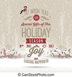 vektor, jul, hälsningar