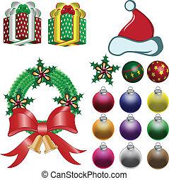 vektor, jul ornamenter