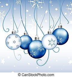vektor, -, jul ornamenter