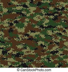 vektor, kamouflage, mönster