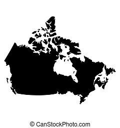 vektor, kanada karte, fahne, abbildung, eps10