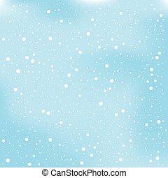 vektor, karácsony, háttér, tél, ábra, hó