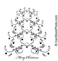vektor, karácsony, háttér