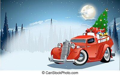 vektor, karácsonyi üdvözlőlap