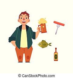 Kneipe Trinken Alkohol Bier Bauch Lizenzfreie Vektor Clip Art 24