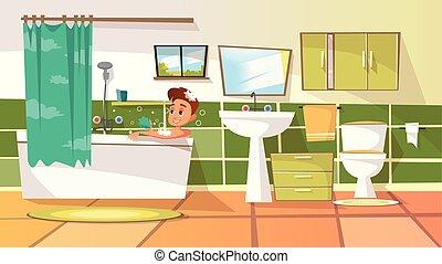 toilette badezimmer mann window reinigt satz w sche piktogramm windows darstellen. Black Bedroom Furniture Sets. Home Design Ideas