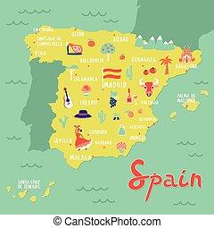 Karta Pa Spansk.Karta Spansk Traditionell Flagga Bakgrund Tjur Corrida