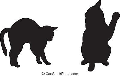 vektor, katt