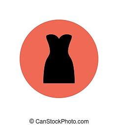 vektor, klæde, illustration
