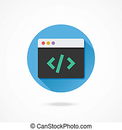 vektor, kodierung, ikone