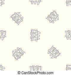 vektor, kolonn, mönster, seamless, ryggrads, skivor