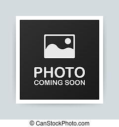 vektor, kommen, soon., bild, foto, abbildung, frame.