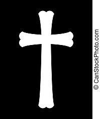vektor, kors, illustration