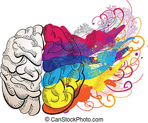 vektor, kreativitet, begreb