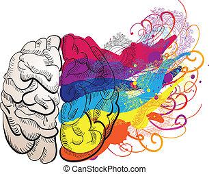 vektor, kreativitet, begrepp