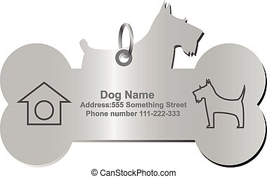 vektor, kutya, személyazonosság, nappal