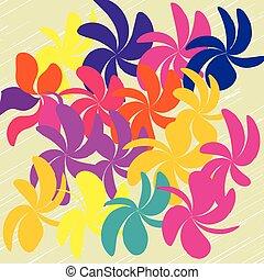 vektor, květ, grafické pozadí