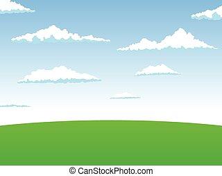 vektor, landschaftsbild, abbildung