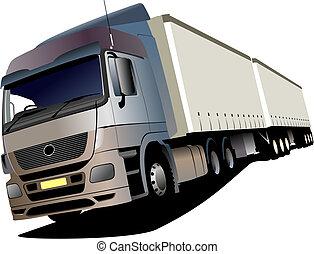 vektor, lastbil, illustration