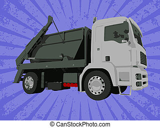 vektor, lastbil