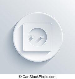 vektor, lehký, kruh, icon., eps10