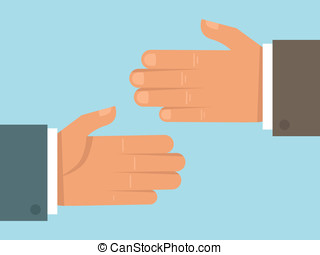 vektor, lejlighed, håndslag, begreb, firmanavnet