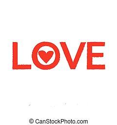 vektor, liebe, abbildung, ikone
