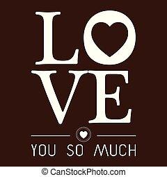 vektor, liebe, bild, valentine, viel, so, sie, tag