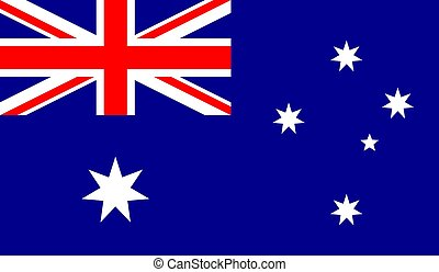 vektor, lobogó, ausztrália, ábra