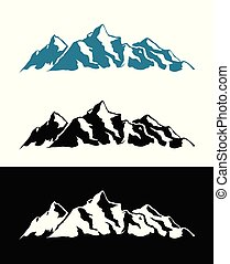 vektor, logo, av, alperna, mountains