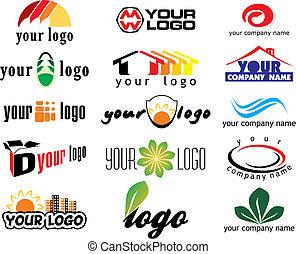 vektor, logo, elemente
