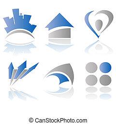 vektor, logo, elementer