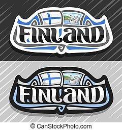 vektor, logo, för, finland