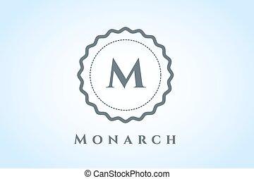 vektor, logo, hotell, kunglig, mall