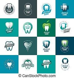 vektor, logo, tandlægevidenskab